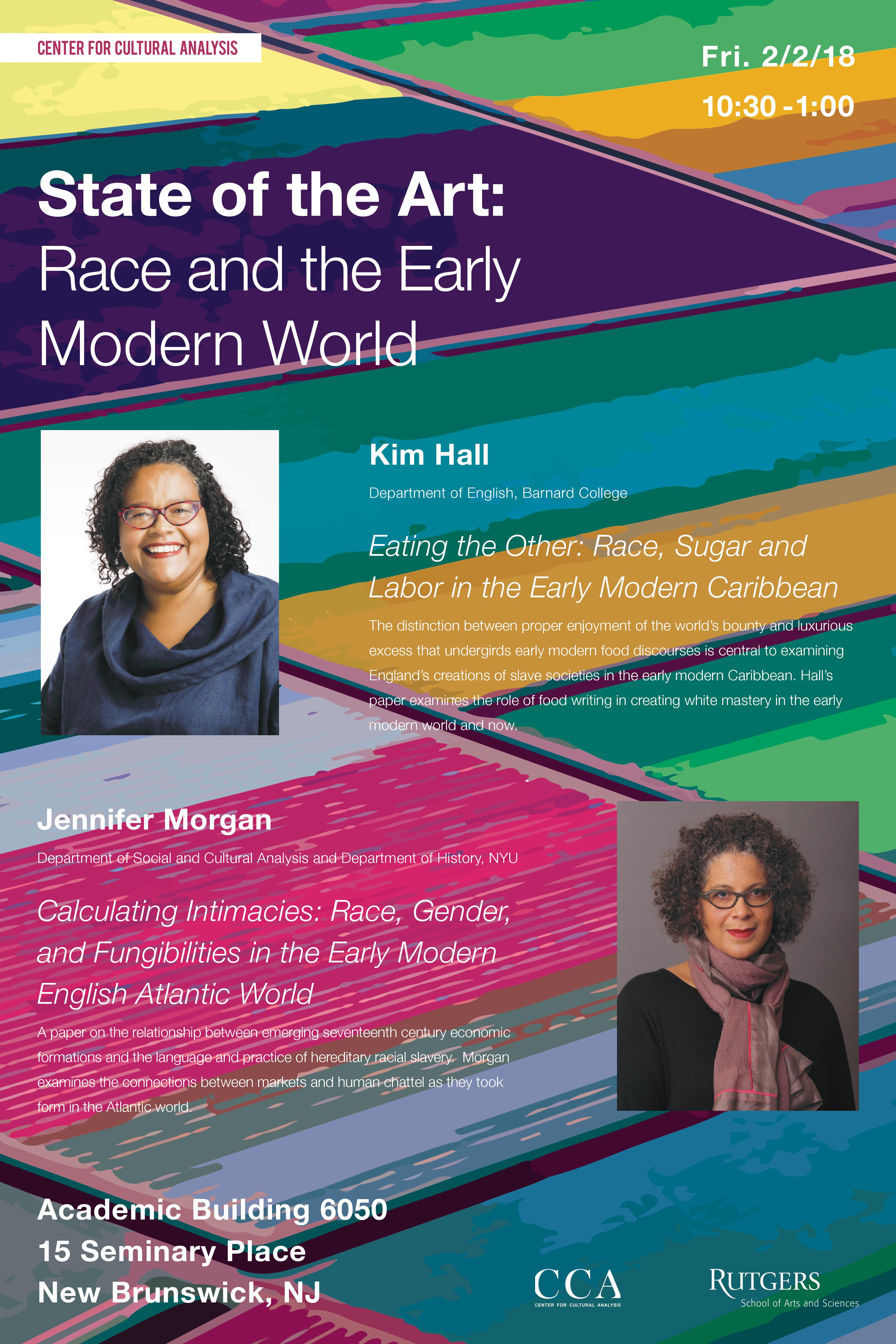 Race and the Early Modern World Feb. 2, 10:30am-1:00pm