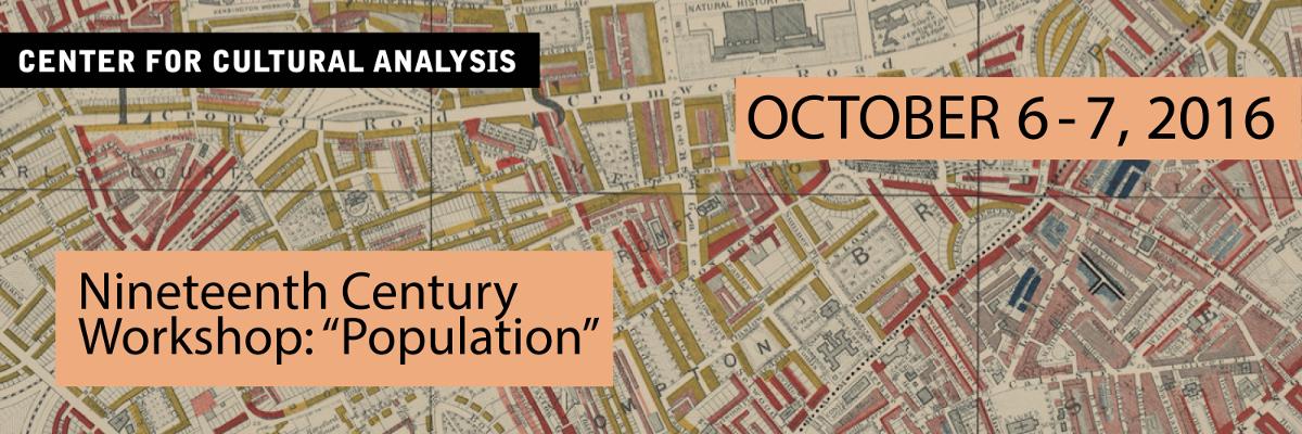 Nineteenth Century Workshop: Population